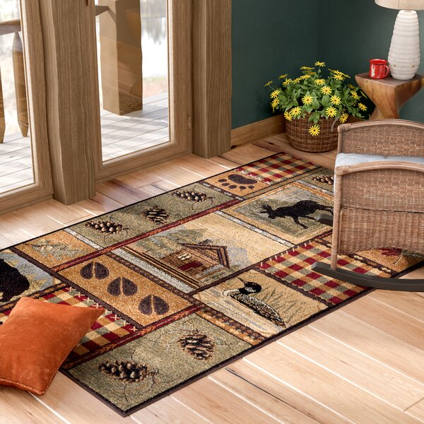 Alers Brown Area Rug by Loon Peak