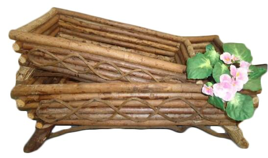 Guilfoyle Natural Twig Rectangular Planter Box (Set of 2) by August Grove