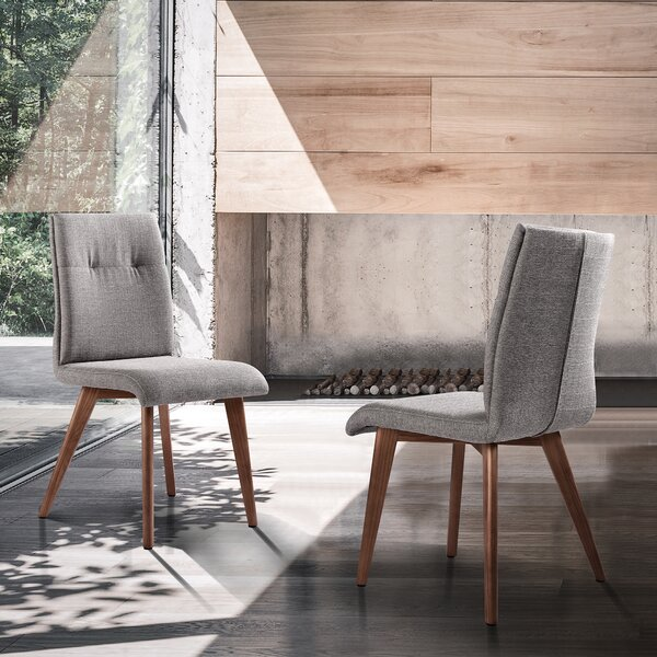 Calne Mid-Century Upholstered Dining Chair (Set of 2) by Corrigan Studio