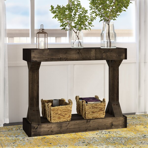 Best Price Dexter Solid Wood Console Table by Union Rustic
