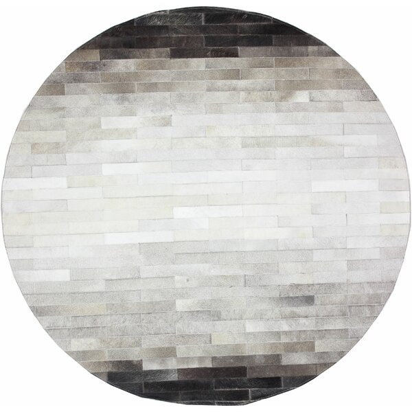 Tuscon Cowhide Gray Area Rug by Bashian Rugs