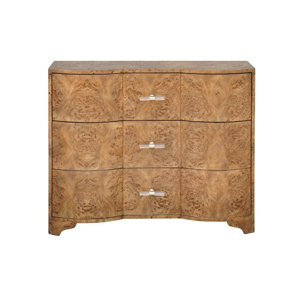 3 Drawer Accent Chest by Worlds Away Worlds Away