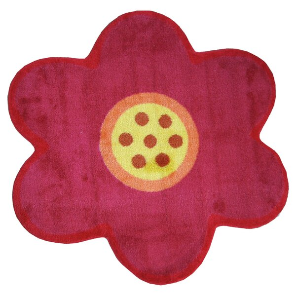 Fun Shape Medium Pile Flower Area Rug by Fun Rugs