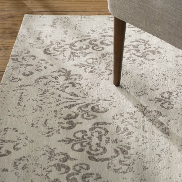 Portleven Ivory/Gray Area Rug by Charlton Home