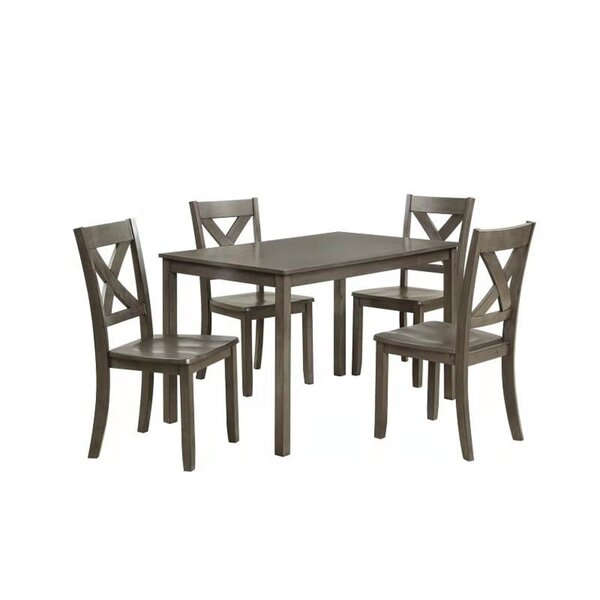 Aude Farmhouse 5 Piece Dining Set by Winston Porter Winston Porter