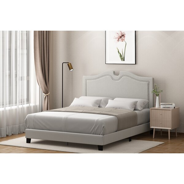 Marsily Nailhead Trim Bed Frame By White Noise