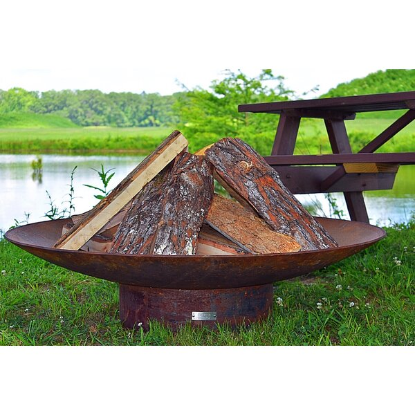 Concave Steel Wood Burning Fire Pit by Seasons Fire Pits