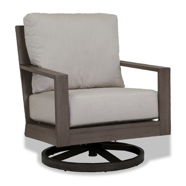 Laguna Canvas Flax Swivel Patio Chair with Cushion by Sunset West Sunset West