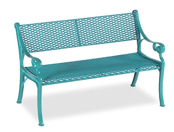 Love Seat Iron Garden bench by Wabash Valley