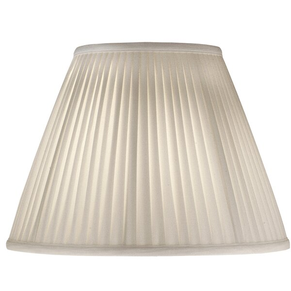 15 H Silk/Shantung Empire Lamp Shade ( Spider ) in Off White Camelot