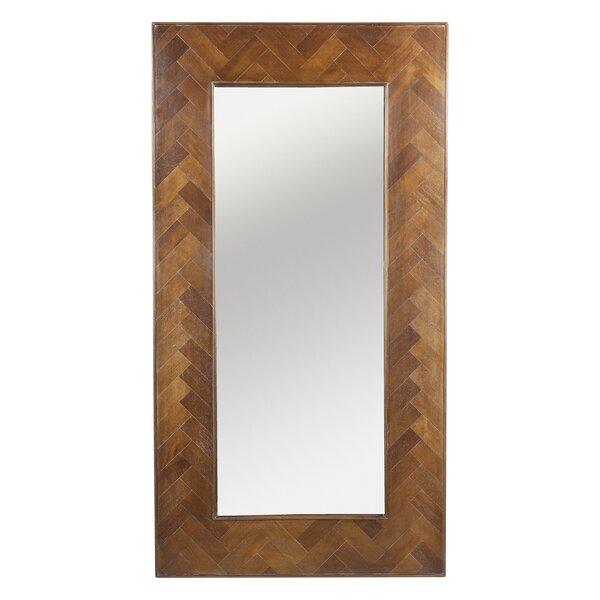 Herringbone Inlay Floor Full Length Mirror by Design Tree Home