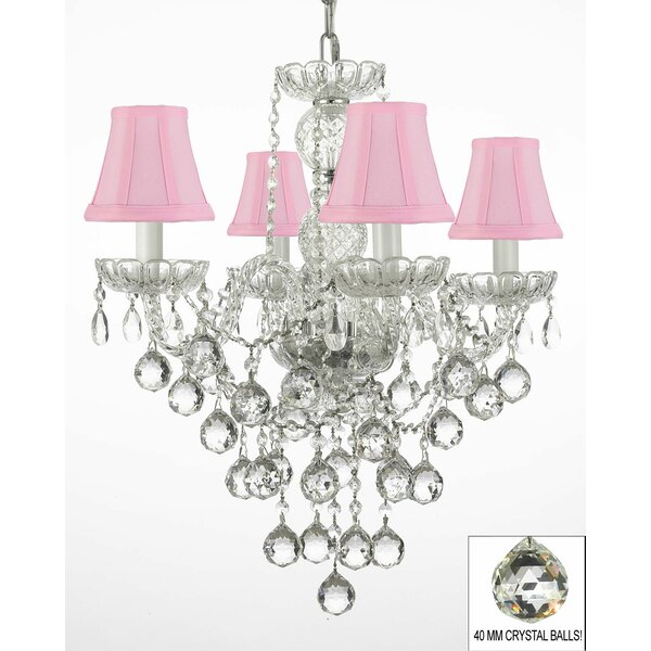Kilpatrick 4 - Light Shaded Tiered Chandelier by House of Hampton House of Hampton