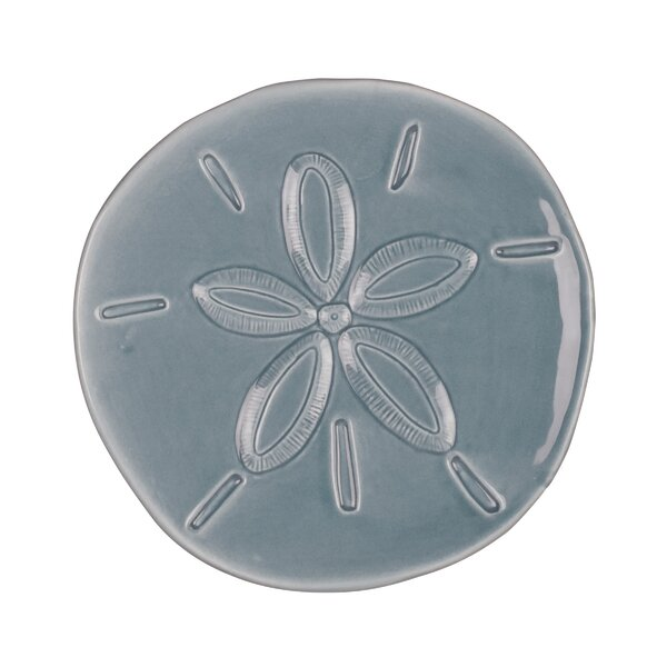 Cape Coral 6.25 Sand Dollar Snack Plate by Fitz and Floyd