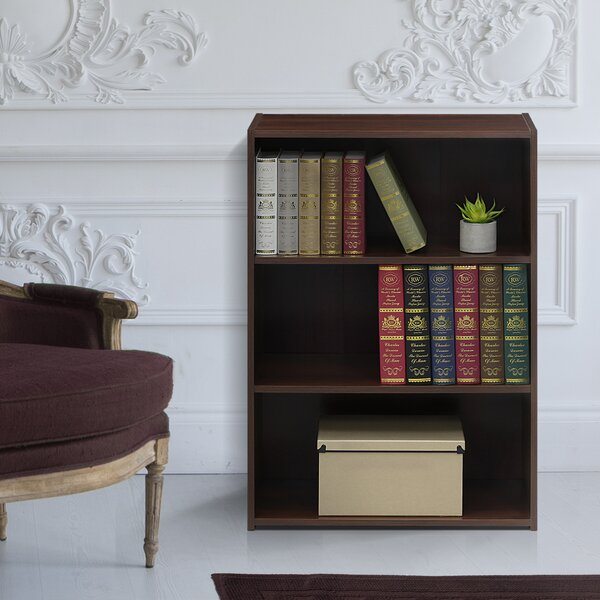 Hinshaw 3-Shelf Standard Bookcase by Latitude Run