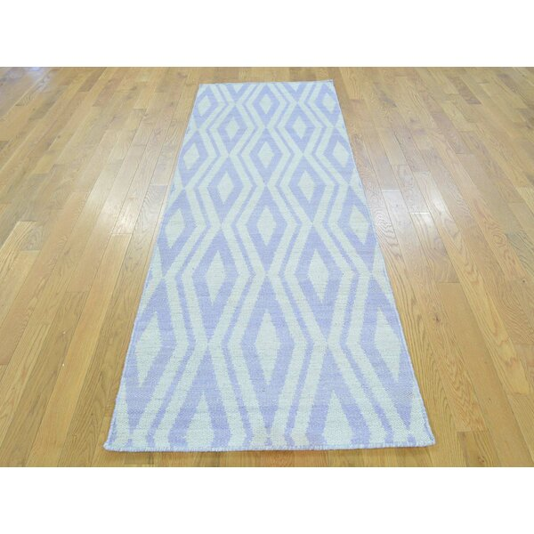 One-of-a-Kind Billups Reversible Killim Handwoven Ivory Wool Area Rug by Isabelline