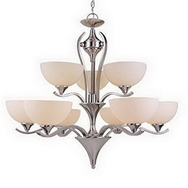 Streicher 9-Light Shaded Tiered Chandelier by Charlton Home Charlton Home