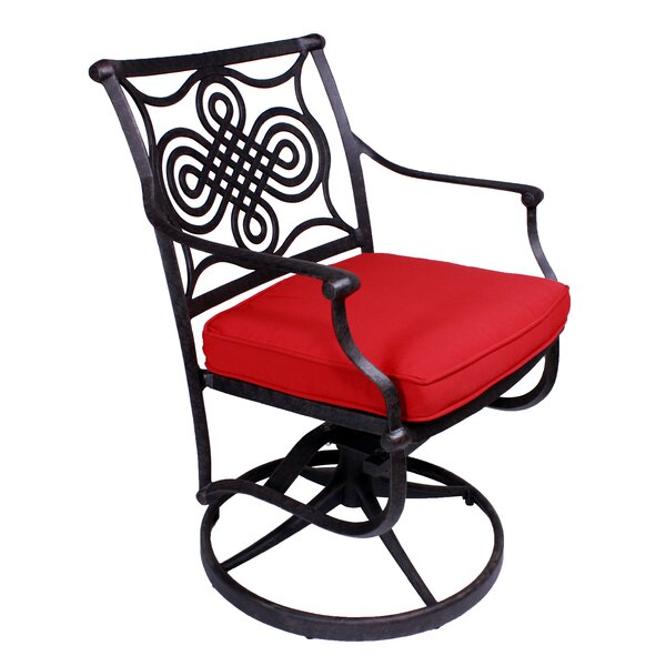 Bermuda Swivel Patio Dining Chair with Cushion by California Outdoor Designs