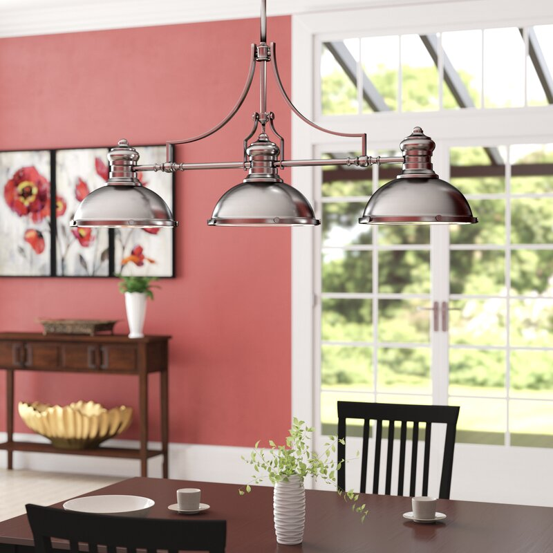 Red Barrel Studio Susan 3-Light Kitchen Island Pendant & Reviews ...