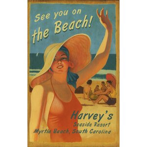 'On the Beach' Vintage Advertisement Plaque by Highland Dunes