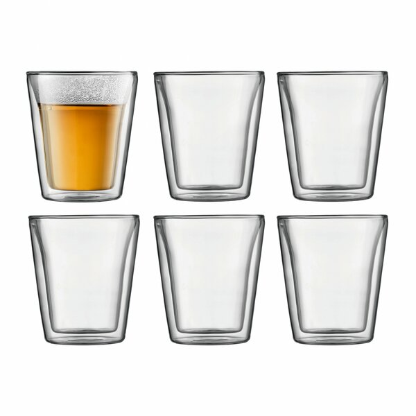Canteen 6 oz. Glass Glassware Set (Set of 6) by Bodum