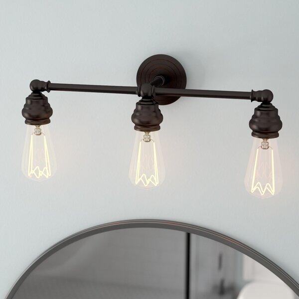 Ivie Traditional 3-Light Metal Vanity Light by Laurel Foundry Modern Farmhouse