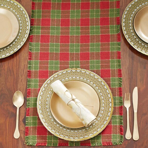 Plaid Table Runner by Loon Peak