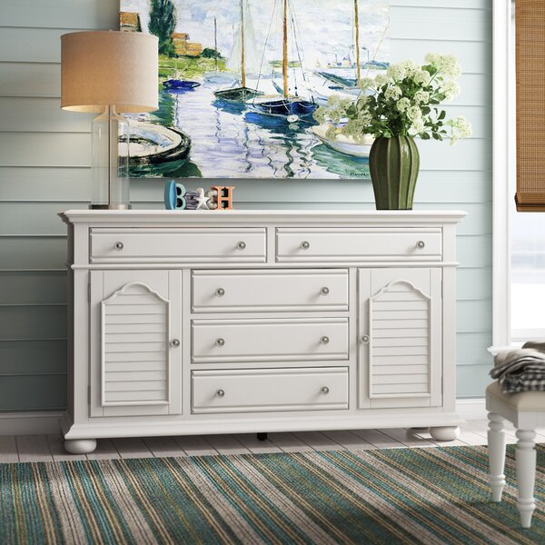 Kaleb 5 Drawer Combo Dresser by Beachcrest Home