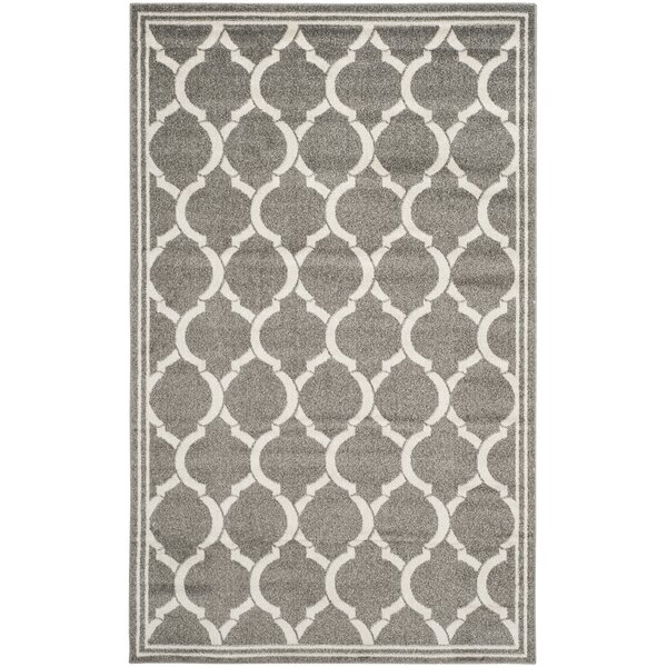 Maritza Power Loomed Dark Gray/Beige Indoor/Outdoor Area Rug by Willa Arlo Interiors
