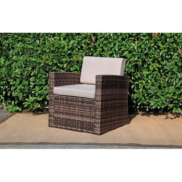 Outdoor Rattan Pool Garden Chair with Cushion by Baner Garden