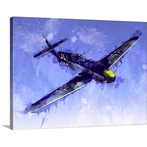 'Messerschmitt Bf 109' by Michael Tompsett Graphic Art Print on Wrapped Canvas by Great Big Canvas