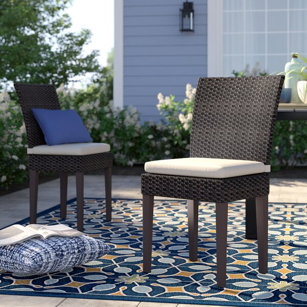 Stratford Patio Dining Chair with Cushion (Set of 2) by Sol 72 Outdoor