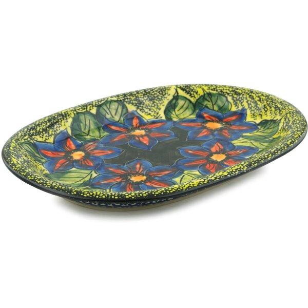 Midnight Glow Oval Platter by Polmedia