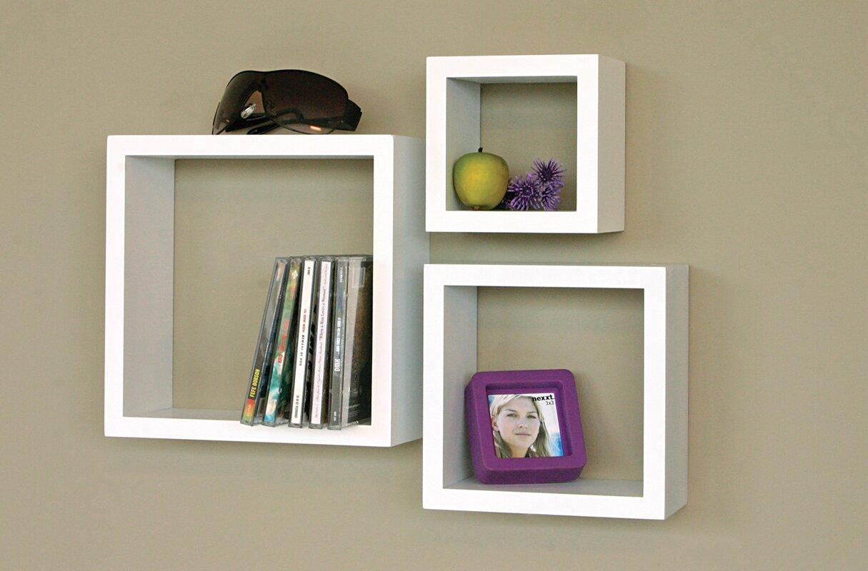 Minimalist Flatware Cubbi 3 Piece Wall Shelf Set Amp Reviews Allmodern