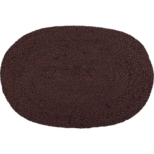 Neville Primitive Tabletop and Kitchen Jute Oval 18 Placemat (Set of 6) by The Holiday Aisle