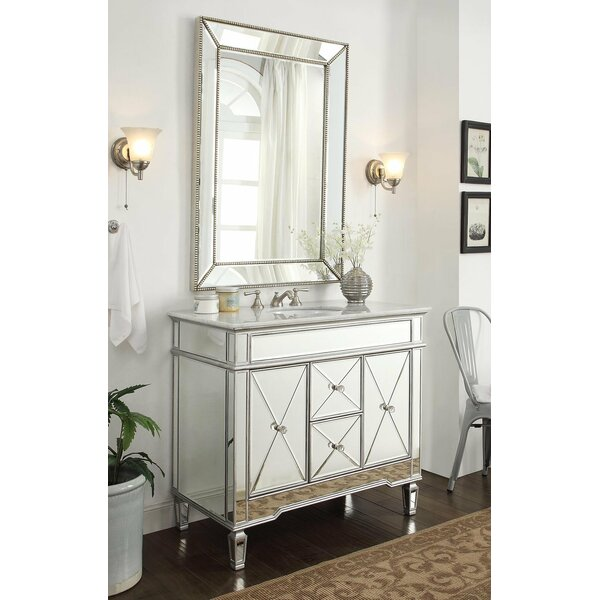 Arango Ramsey 40 Single Bathroom Vanity Set with Mirror