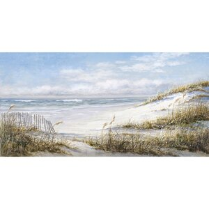 'Beach Fence Soft' Print on Wrapped Canvas by Highland Dunes