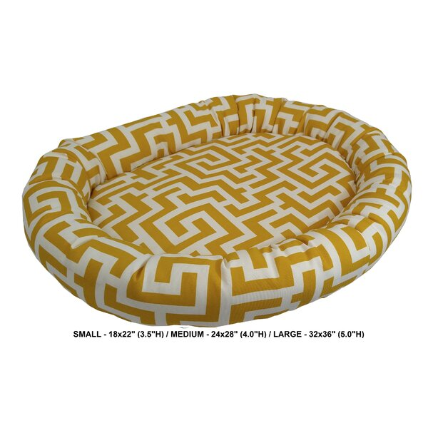 Corrine Keys Indoor/Outdoor Bolster Pet Bed by Tucker Murphy Pet