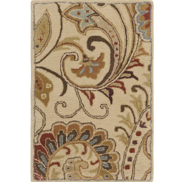 Forres Hand-Tufted Blue/Brown Area Rug by Alcott Hill