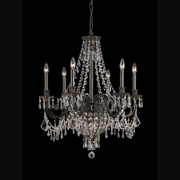 Mooney 6-Light Candle Style Empire Chandelier with Crystal Accents Accents by Astoria Grand Astoria Grand
