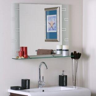 Latitude Run Wyona Frameless Wall Mirror with Shelf