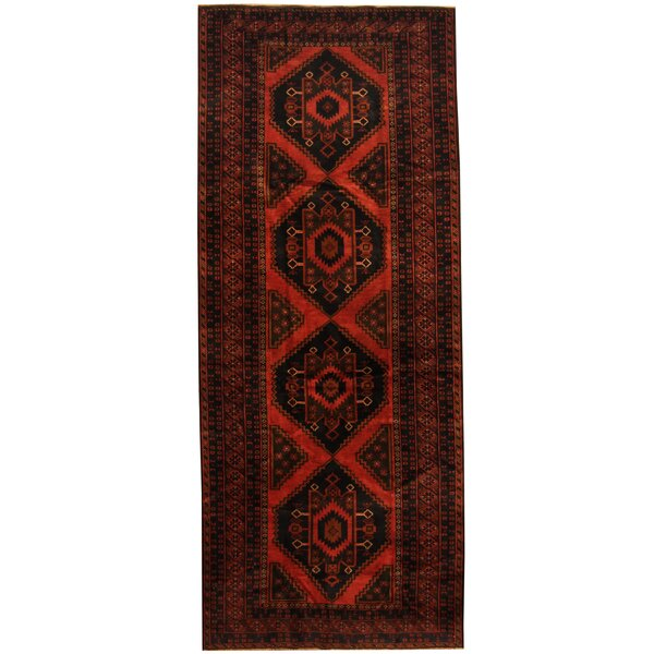 Prentice Hand-Knotted Rust/Navy Area Rug by Isabelline