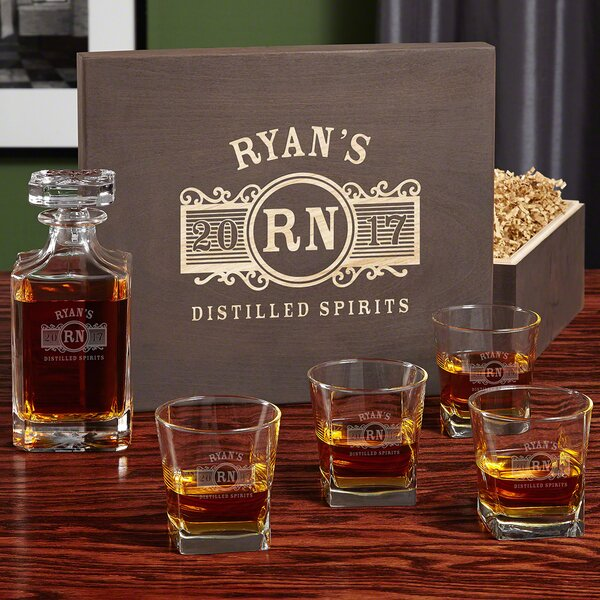 Marquee Personalized 5 Piece Beverage Serving Set by Home Wet Bar