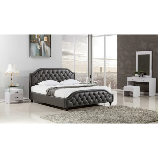 Edmond Wooden Upholstered Platform Bed by Rosdorf Park