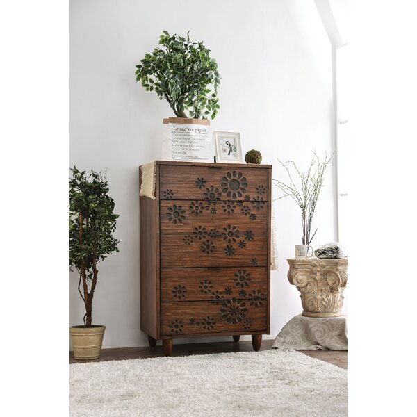 #2 Alayah 5 Drawer Chest By Orren Ellis Cool