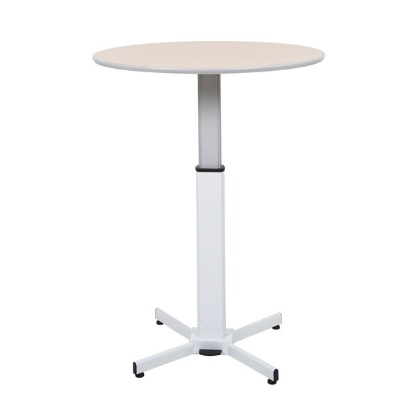 Pneumatic Adjustable Round Pedestal Table by Offex