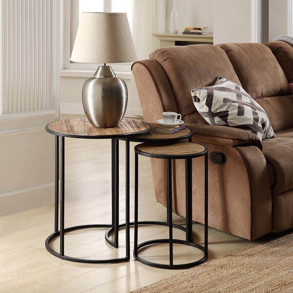 Haslett 3 Piece Nesting Tables By Union Rustic