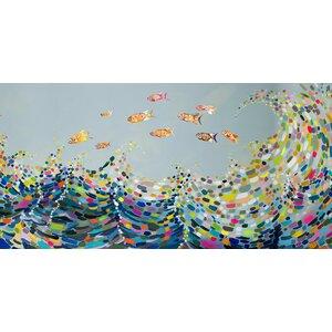 'Vivid Waves' Painting Print on Canvas by Viv + Rae