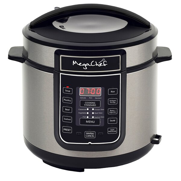 6-Qt. Digital Pressure Cooker by Mega Chef