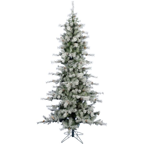 Buffalo Slim Snow/Green Fir Trees Artificial Christmas Tree by The Holiday Aisle