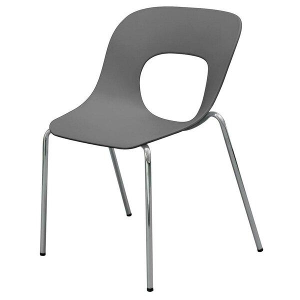 Jaya Plastic Stacking Patio Dining Chair (Set of 4) by Orren Ellis